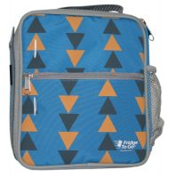 Fridge To-Go Medium Size Insulated Lunch Bag Triangle Pattern