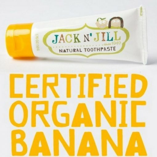 Jack 'n Jill natural childrens fluoride free tooth paste - Banana flavour
