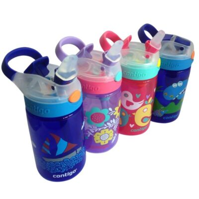 Personalised Gontigo Gizmo Autospout straw leak proof bottle 420ml