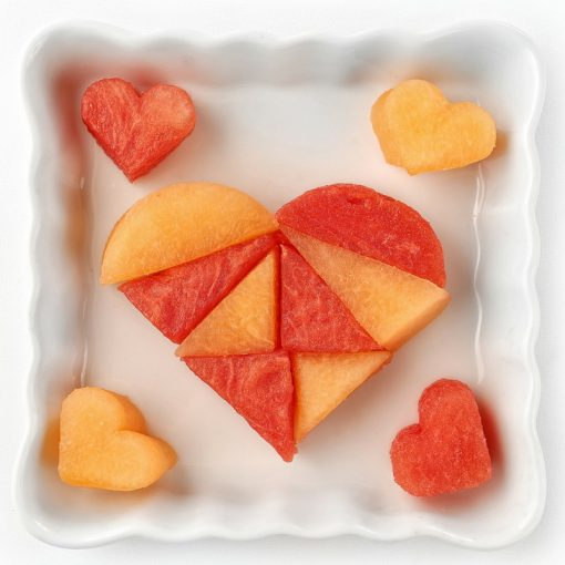 FunBites sandwich cutters - melon heart photo