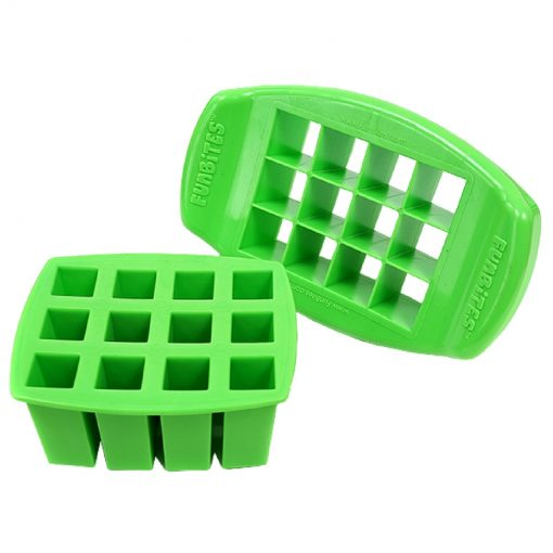 FunBites sandwich cutters - square design - green