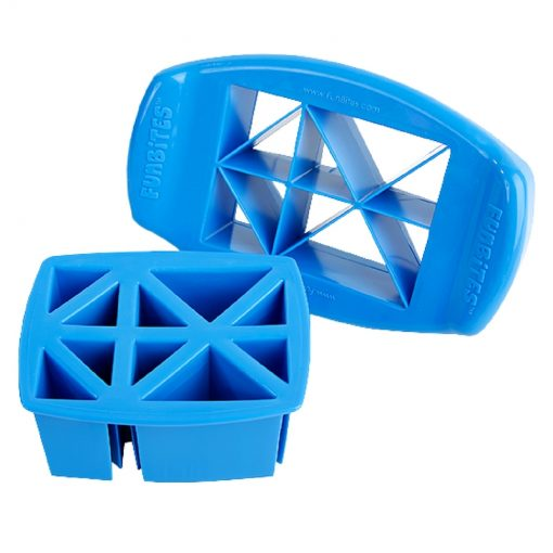 FunBites sandwich cutters - triangle design - blue