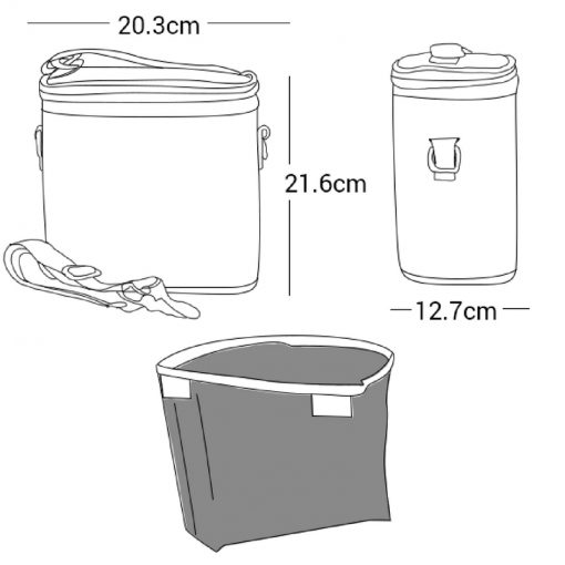 So Young insulated cooler large lunch bag - drawing - description of bag