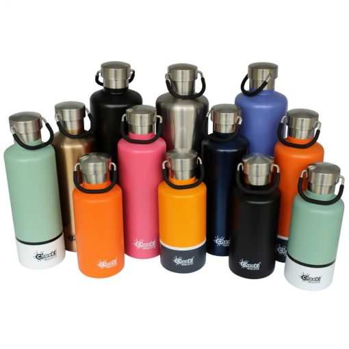 Personalised 400 ml, 600ml and 1L Cheeki double walled insulated stainless steel thermos bottle - mix photo