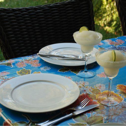 Ben Elke retro Mexican oilcloth tablecloth - size 120cm x 250cm - set table photo