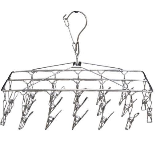 Wirepegs stainless steel sock hanger with 18 pegs - made from grade 304S