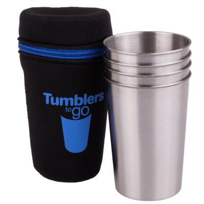 Go D.Line 350ml stainless steel tumblers - 4 in a pouch