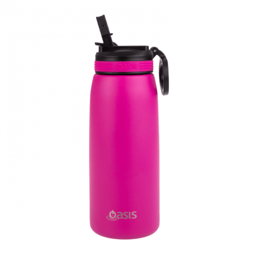 780ml Oasis Sports Bottle double walled stainless steel with sipper lid - fuchsia